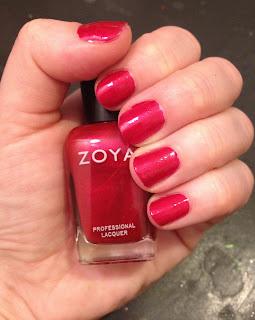 Zoya, Zoya nail polish, Zoya nail lacquer, Zoya Elisa, nail, nails, nail polish, polish, lacquer, nail lacquer, Valentine's Day, mani, manicure