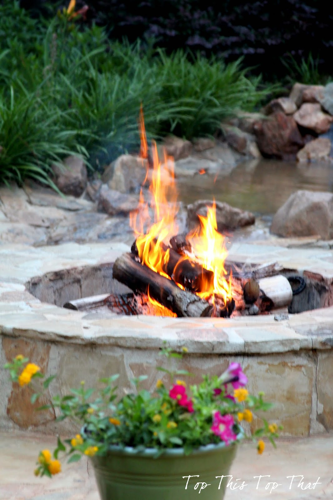 Water And Fire Features For Backyards : Our proudest outdoor moment and our DIY Water Feature
