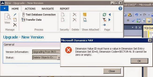 how to delete dimension set entry from sql