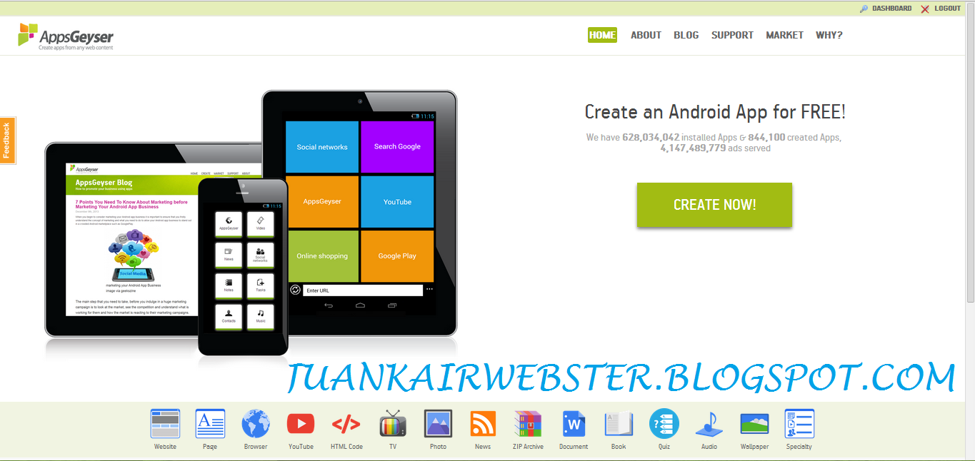 Aplikasi Android Blog | Share The Knownledge