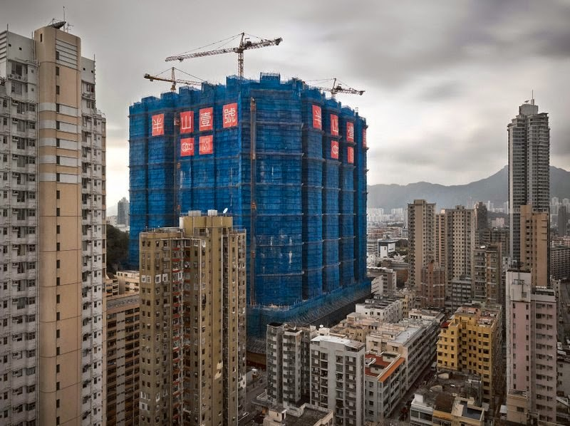 Hong Kong Building Construction Sites | The Colorful Cocoons