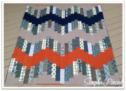 In This Quilt By Janet Middlekauff Of The Blog Simply Pieced You First See  The Solid, Then The Print. The Print And The Colors Of The Print Lend  Balance To ...