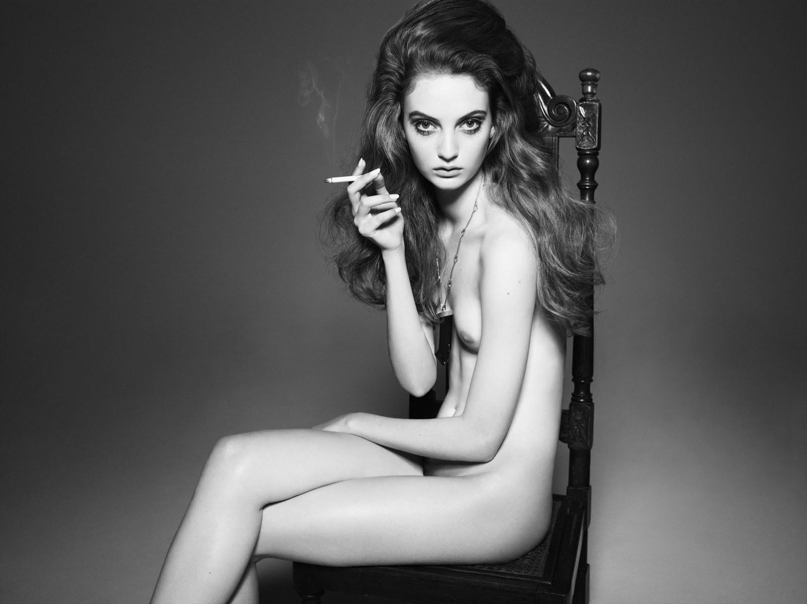 nude striptease thin model