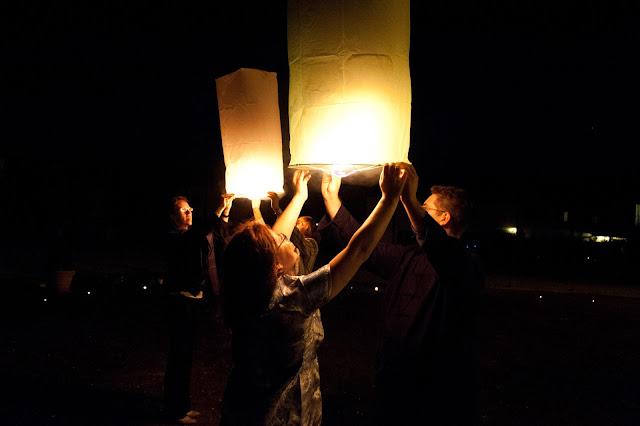 matrimonio con lo sponsor chiara e maurizio lampade volanti