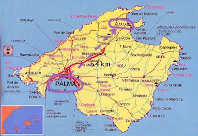Mallorca Mapa Ciudad de la Región