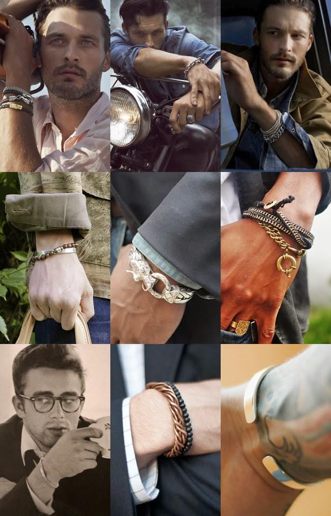 Metal bracelets for men