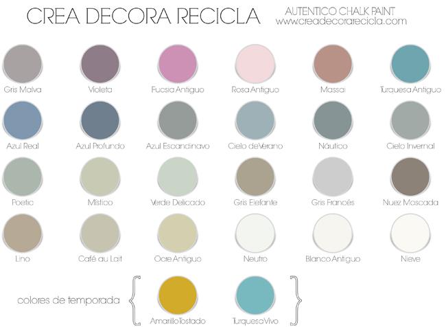 Crea decora recicla by all washi tape autentico chalk for Pintura color tostado