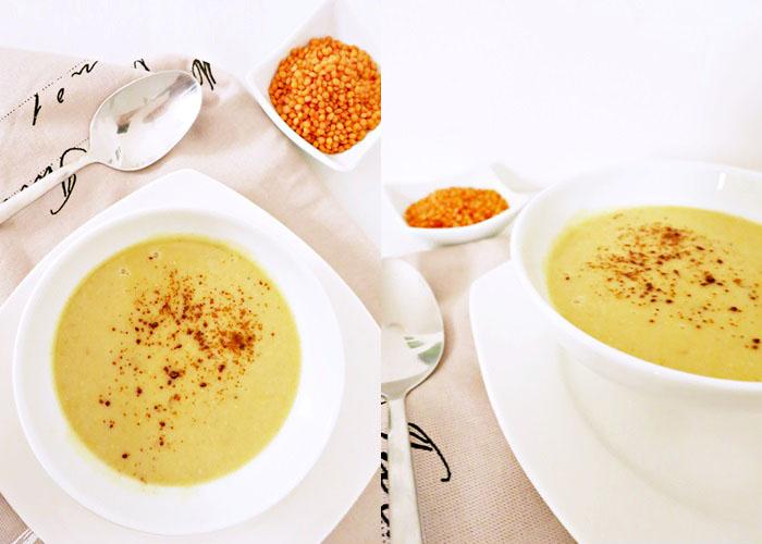 Rote Linsen-Kokos Suppe