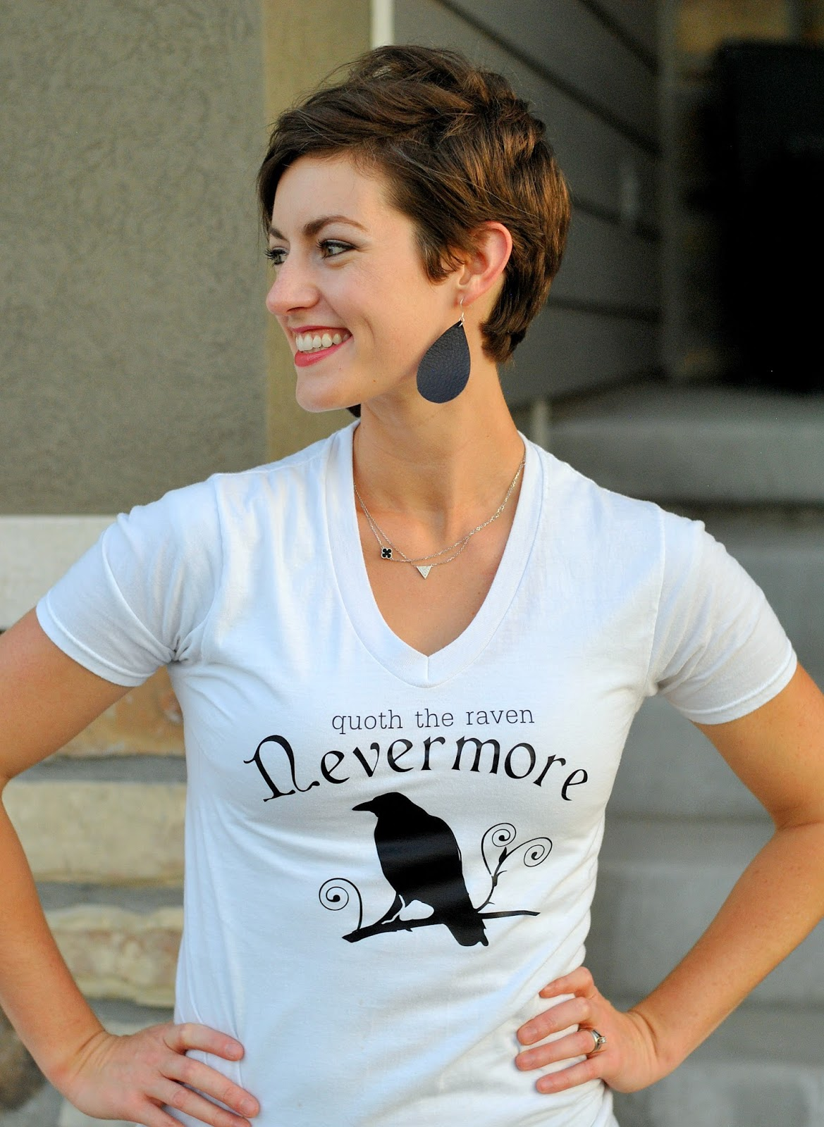 DIY this awesome Nevermore shirt inspired by The Raven!