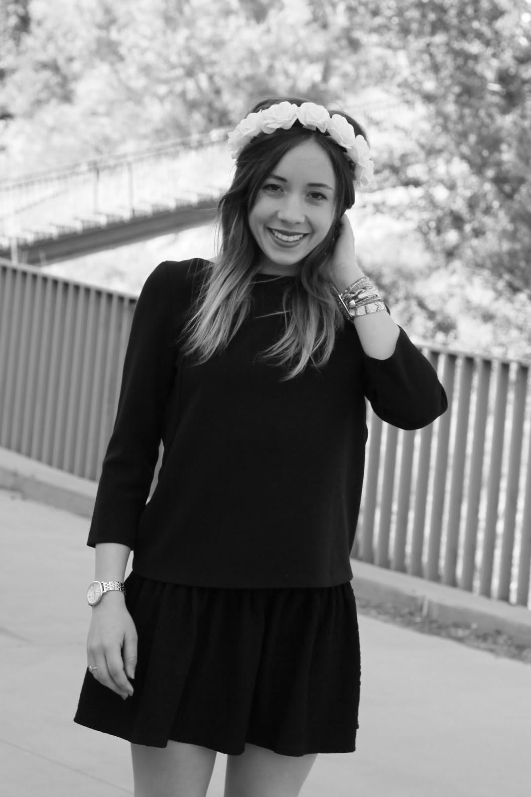 Tenue mode noir et blanc