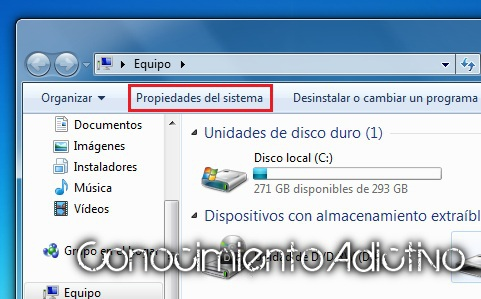 seccion activacion de windows veremos que windows 7 esta activado