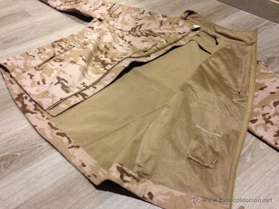 Spanish Army Desert Digital Camo Softshell Jacket e