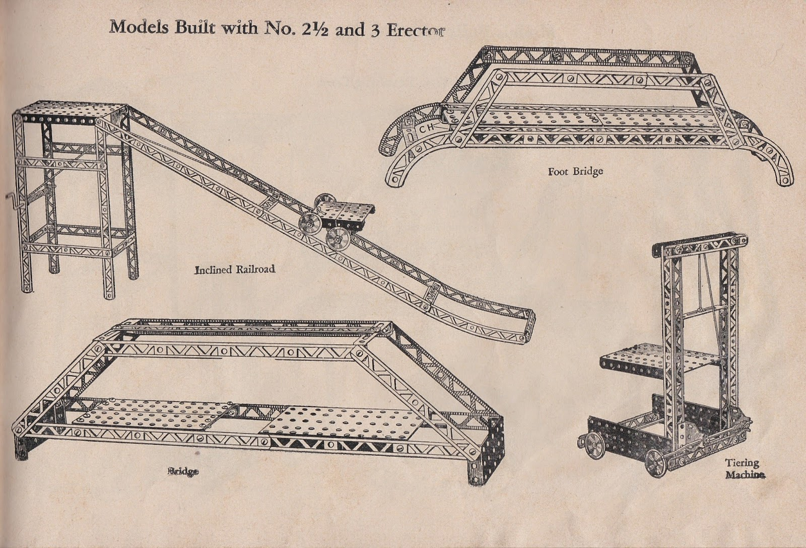 Garage Sale Finds Erect Bridge Labeled Parts Diagram Unlike Todays Lego Specialty Sets The Book Merely Offers Ideas With Pictures Sometimes Labeling A Few Of Rather Than Step By Assembly