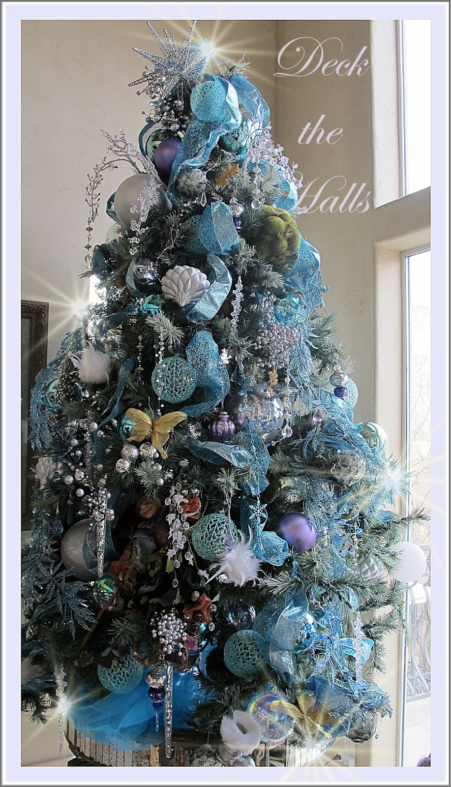 Icy aqua splendor my new christmas tree decor purple