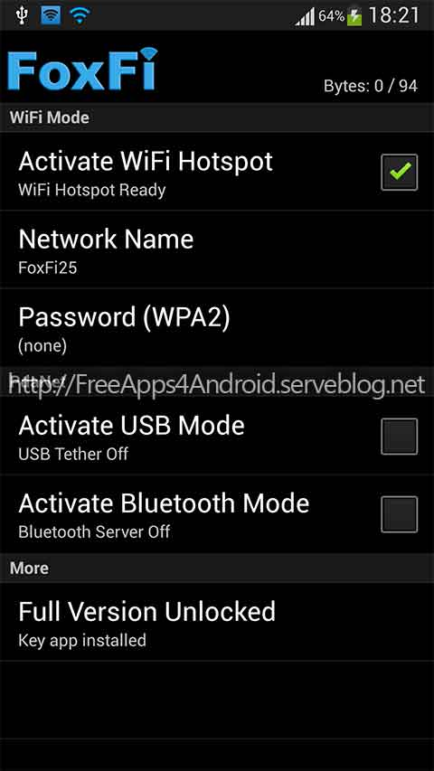 Free Apps 4 Android Foxfi Full Wifi Tether W O Root V2