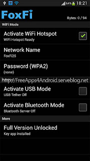 FoxFi FULL (WiFi Tether w/o Root) Free Apps 4 Android