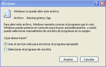 Reproductor no abre el archivo 3gp