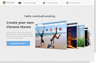 How to create theme for Google Chrome