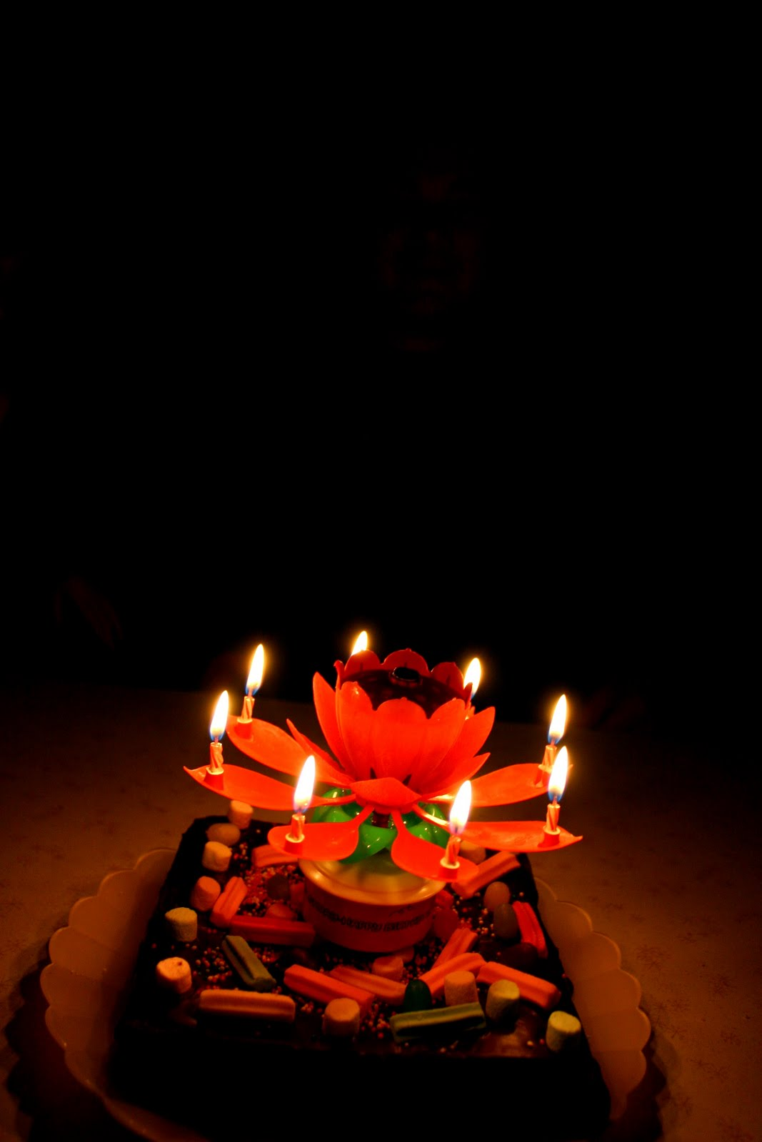 Even After The Centre Sparkle Has Finished Candles Keep Revolving Birthday Goood Times