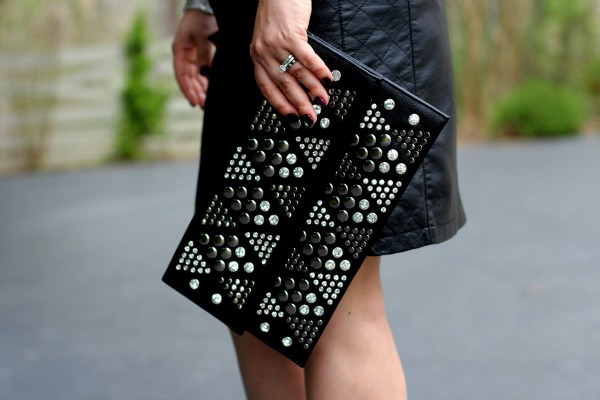 Studded Black Clutch - TJ Maxx