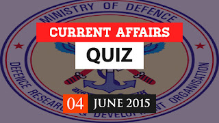 current affairs quiz 4 june 2015
