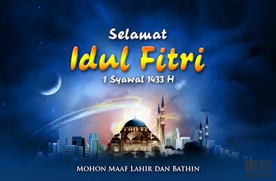 Kartu Ucapan Lebaran Idul Fitri 2012 terbaru