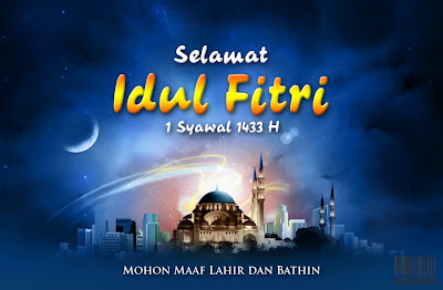 Kartu Ucapan Hari Raya Idul Fitri 2012 Terlengkap