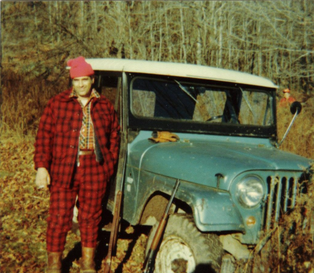 My father in the 70s with the jeep hunting in the catskill mountains ny