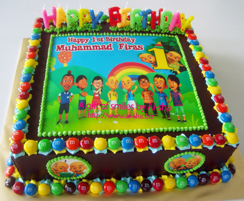 Birthday Cake Edible Image Upin Ipin Kek Harijadi Muhammad Firas