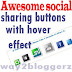 Awesome Social sharing buttons below blog post