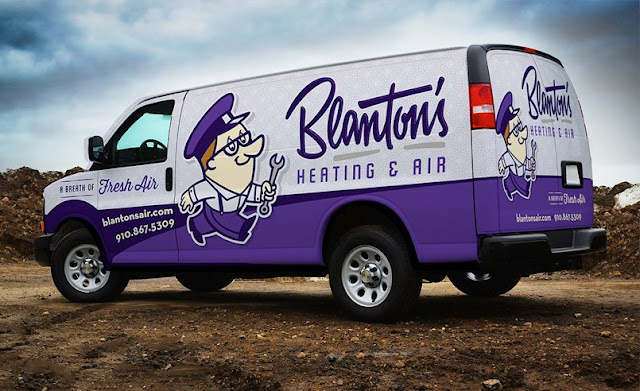 best hvac truck wrap, hvac logo design, hvac fleet wraps