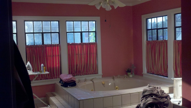 Thankfully The Walls Are The Color Of Pepto Since Every Time I Look At This Room I More Or Less Want To Gag It S A Dynamic Color For A 1930s House
