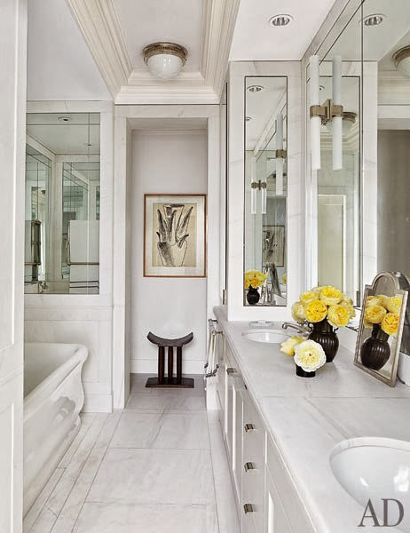 beautiful white bathroom design as a clear place for inspiration and mood booster