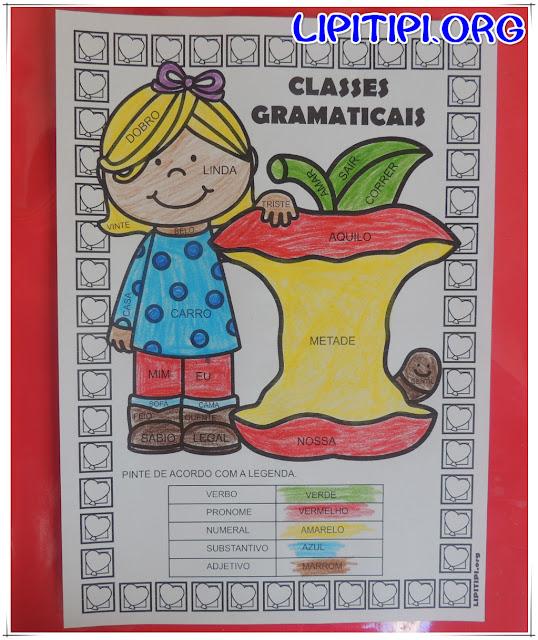Atividade classes gramaticais segundo ciclo Fundamental I