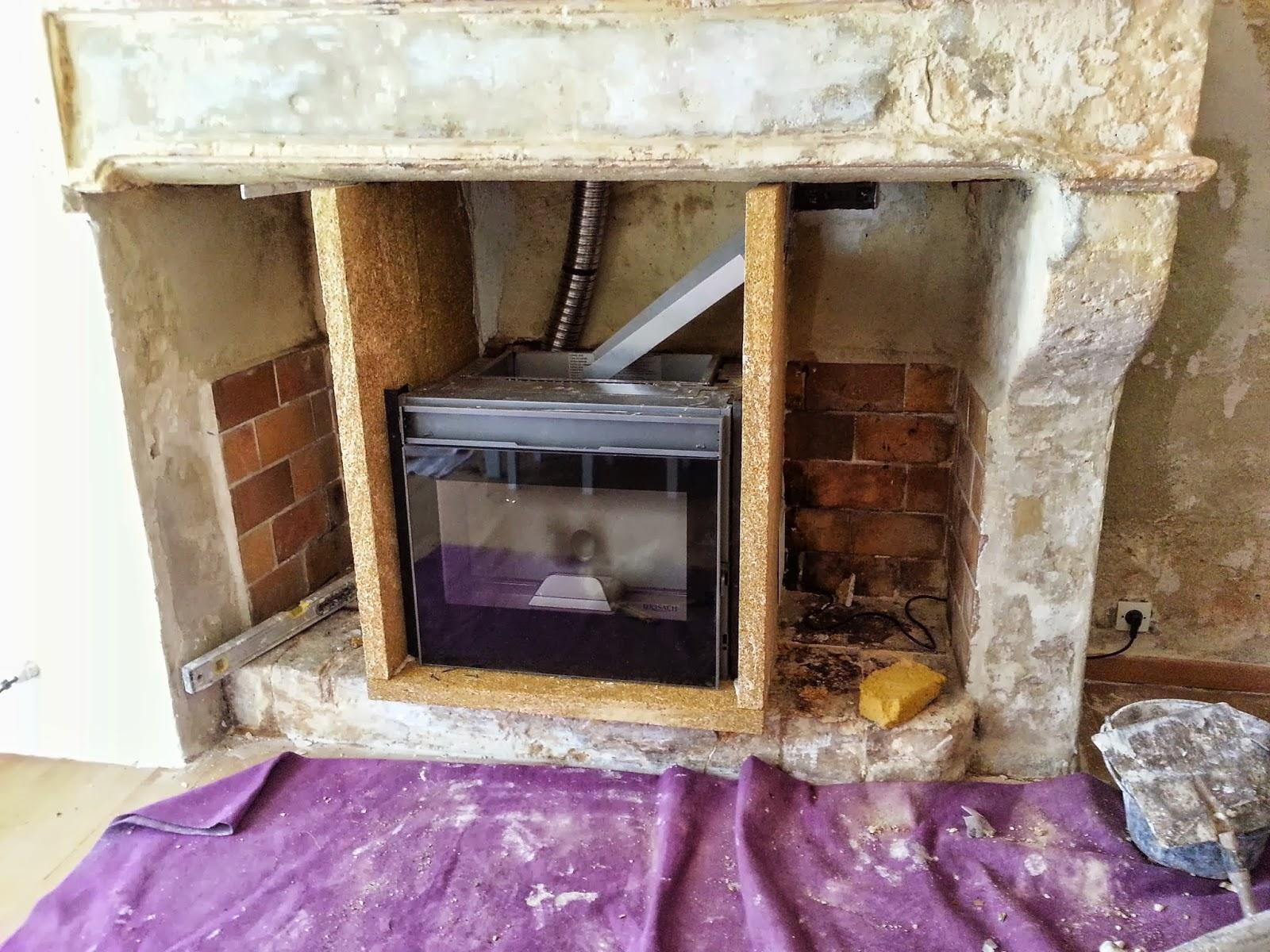 1 pose d 39 un insert pellet pour chauffer toute la maison - Amenagement autour d un insert de cheminee ...