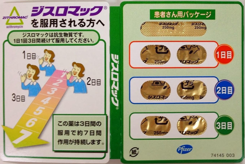 ジスロマック みやび日記: ジスロマック錠250mgの後発医薬品が来月発売