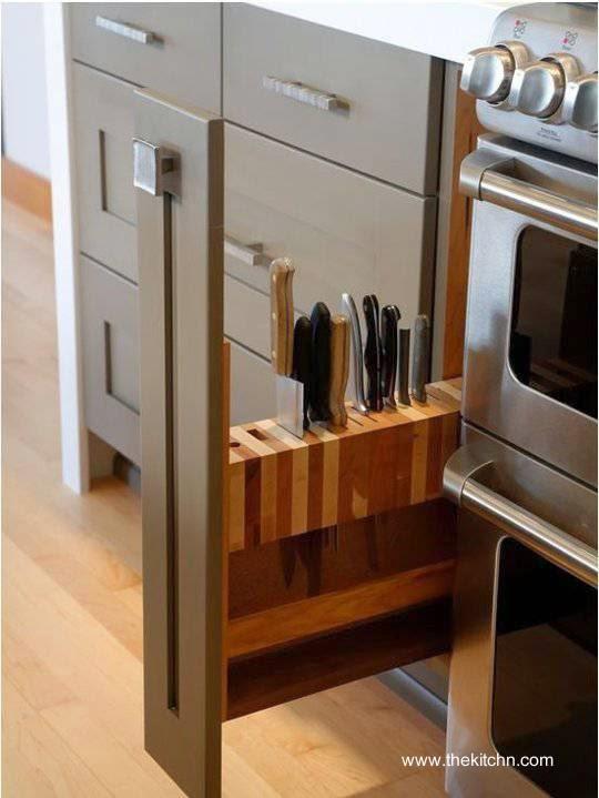 Soporte para cuchillos de cocina deslizante