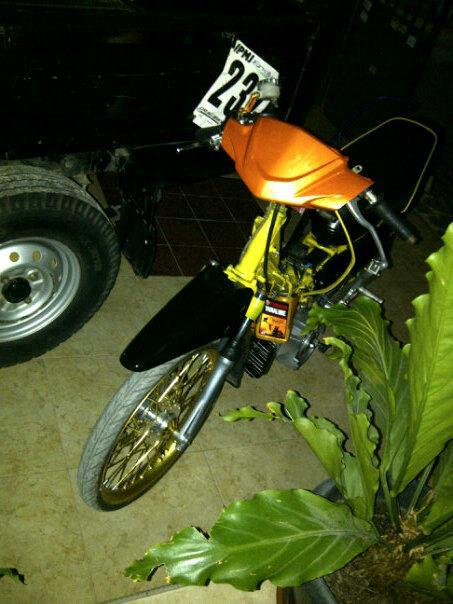 Shock Depan Trusty ( Gold & Chrome ), Pegangan selang Bikers, Cover  title=
