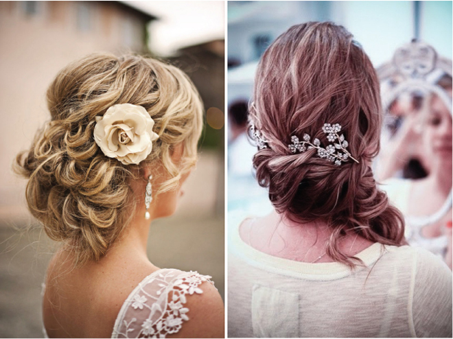 Gallery For Loose Curly Wedding Updos