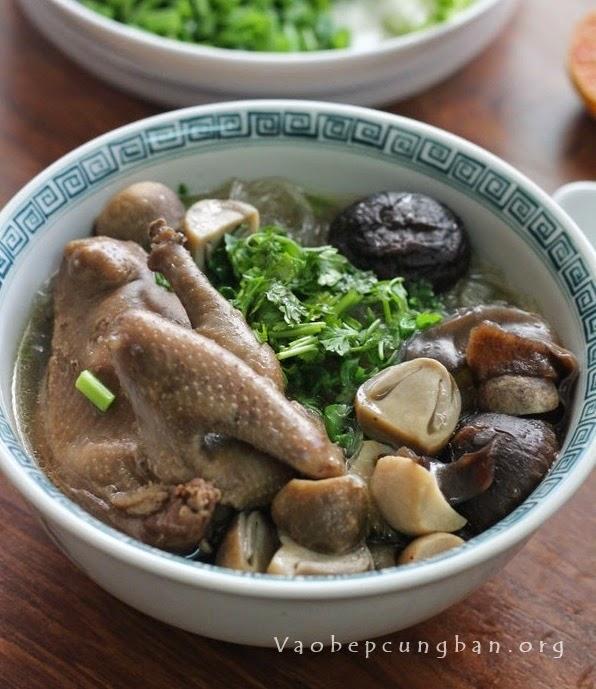 Cách nấu miến chim Bồ câu bồi bổ