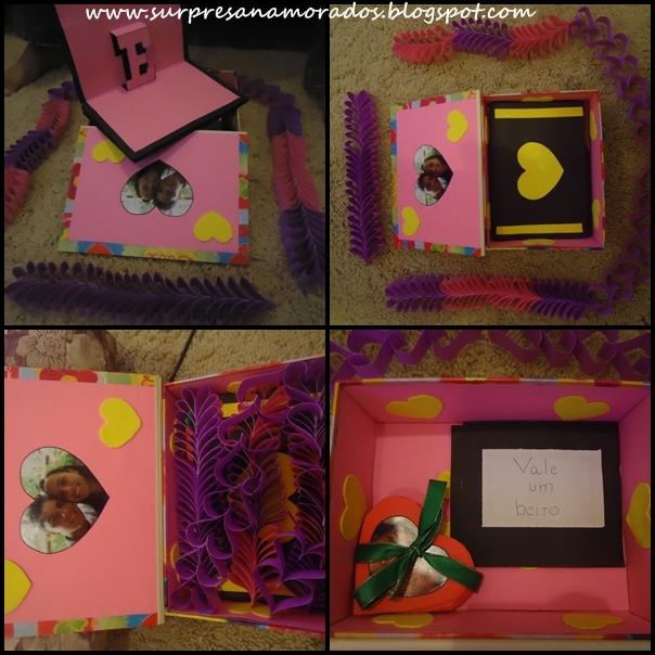 caixa 9 meses de namoro corrente coração