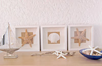 DIY Cuadros de mar / Diy Shells and Starfish