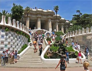 El Parque Güel de Gaudi en Barcelona