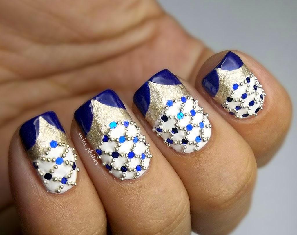 Faberge eggs nail art