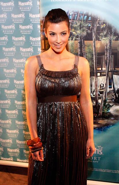 Kim Kardashian in Brown Dresses
