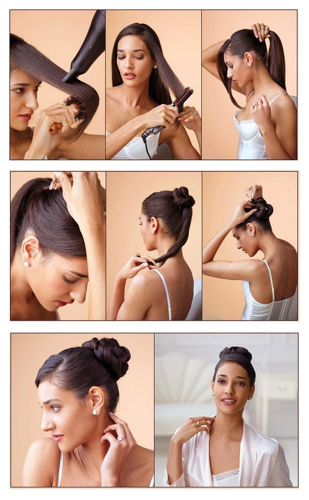 Прически которой можно сделать самой на средние волосах