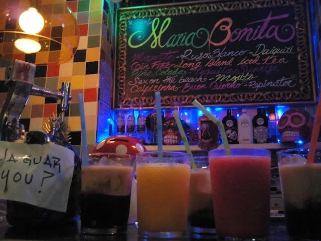 Coctelería en María Bonita, mexicano.