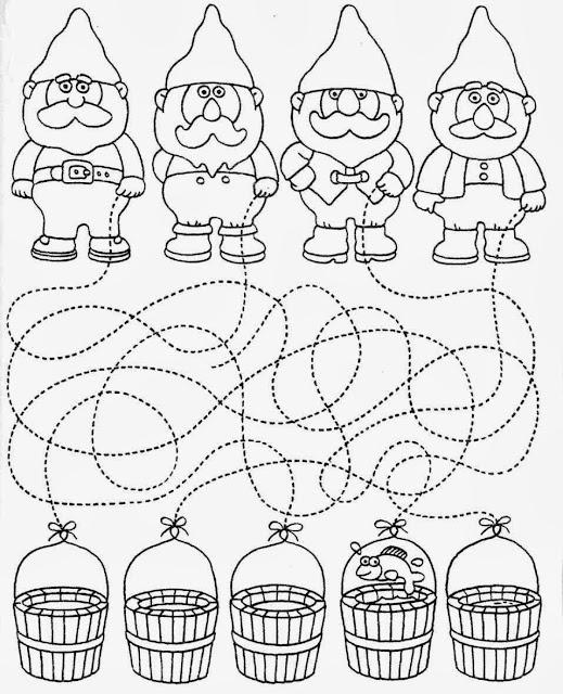 coordenação viso-motora, pontilhado, linhas sinuosas