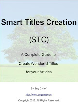 FREE Smart Titles Creation (STC) eBook contains 100+ title samples...