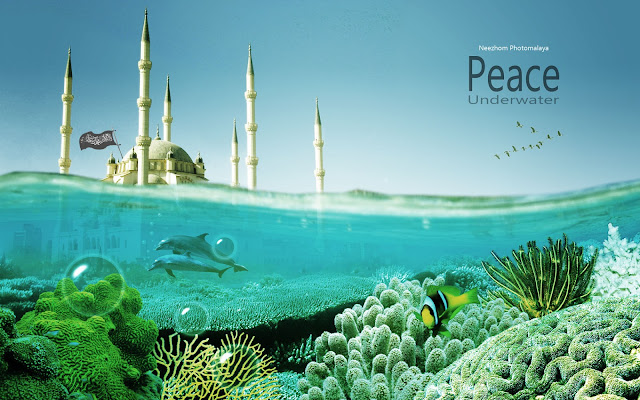 Peace underwater - Photo manipulation